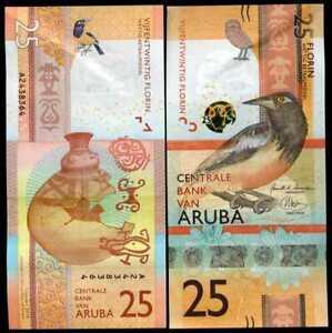 ARUBA 25 FLORINS 2019 P NEW DESIGN XF/AUNC