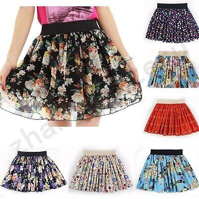 New Style Women Summer Cool Casual Chiffon Dress Casual Mini Pleated Skirt