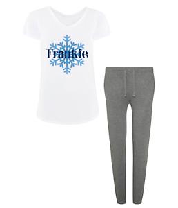 Personalised Name Christmas Pyjamas Girls Pjs Winter Ladies Snow Xmas Gifts