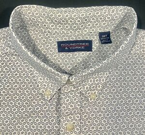 Roundtree /& Yorke Mens Short Sleeves Oxford Buttoned Shirt