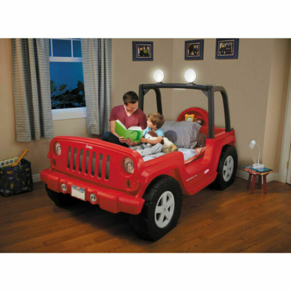 Little Tikes Jeep Wrangler Toddler to Twin Bed with LED ...