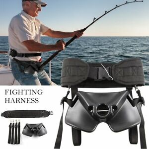 Boat-Fishing-Belly-Belt-Rod-Holder-Fighting-Belt-Harness-Adjustable-Waist-Belt