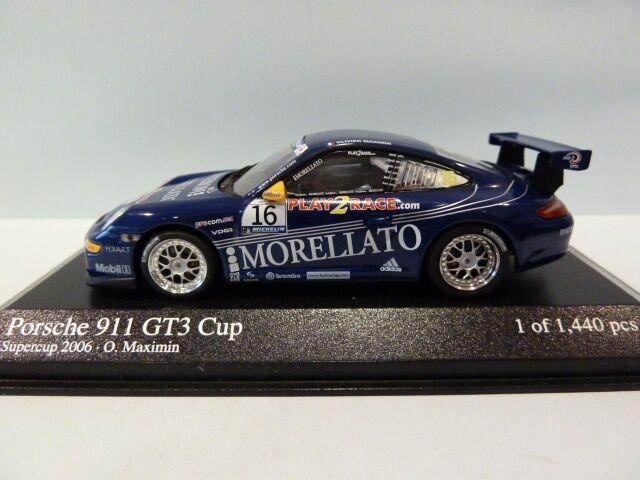 PORSCHE 911 997 GT3 CUP  16 SUPERCUP 2006 MAXIMIN TEAM MORELLATO MINICHAMPS 1 43