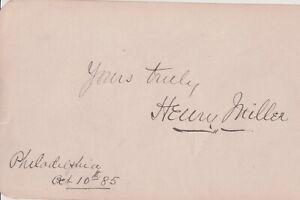 Autographié Album Page English-Born Américain Acteur Henry Miller 1885