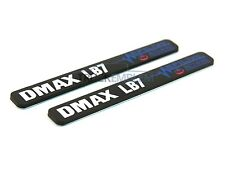 "2 New Black & White Duramax Diesel ""DMAX LB7"" Allison EFILIVE 2500 3500 Badges"
