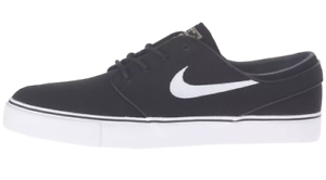 Nike ZOOM STEFAN JANOSKI CNVS Black White Skate 615957-028 (411) Men's Shoes