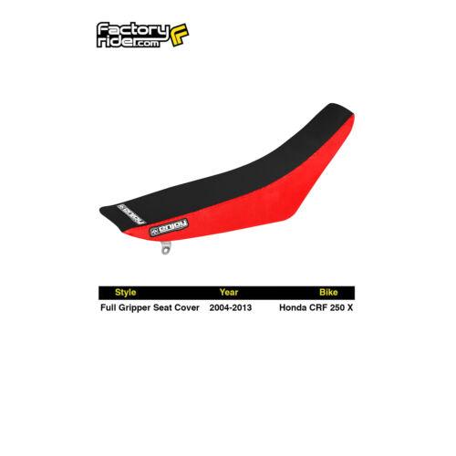2004-2013 HONDA CRF 250X Red Black FULL GRIPPER SEAT COVER by Enjoy MFG