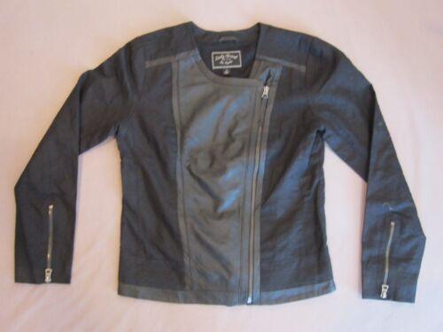 Brand Motorcykeljakke Lucky Black Women's Leather Small Rare Mix Linen Størrelse BURAqUfWS
