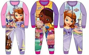 Doc McStuffins All in One Sleepsuit Pjs Girls Pyjamas Ages 2 to 8 Years