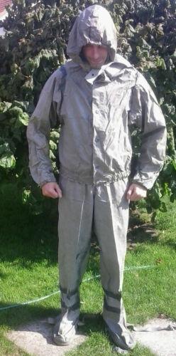 Wathose NVA Schutzanzug SBA 2 Anglerhose Jacke Anzug Gr 2 DDR Nässeschutz