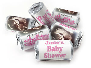 Personalised-Love-Heart-Sweets-for-Baby-Shower-favours-Silver-Foils-Girl-Scan-V0