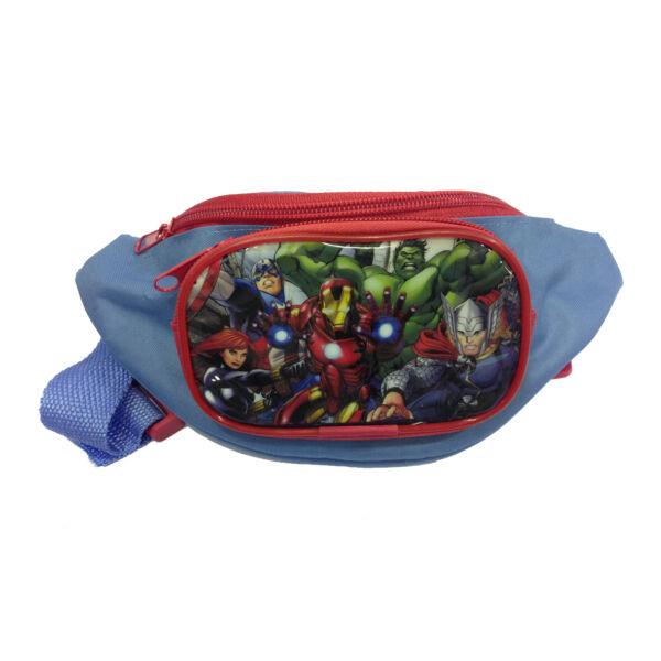 2019 Nuevo Estilo Avengers Marsupio Bambino 2 Tasche Con Patta Plastificata Eliminando ObstruccióN