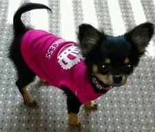 Chihuahua Cucciolo di dimensioni (Xsmall) vestiti per cani principessa rosa con le lettere Bianco Top