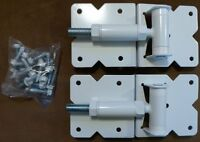 Vinyl Fence Gate Hinges (white Pair), New, Free Shipping