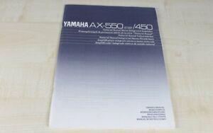 Yamaha-AX-450-AX-550-original-Bedienungsanleitung-mehrsprachig-Deutsch