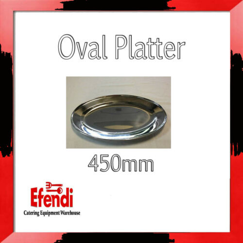 Oval Platter Serving Platter 450mm Stainless Steel PartiesFunctionsOccassion