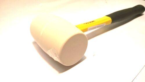 Rubber Mallet Hammer 16oz White Head Fibre Handle TZ HM110
