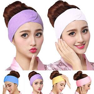 Details zu Damen Stirnband Kopfschmuck Haarband Sport Tennis Band MakeUp Haargummi Kopftuch