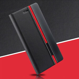 Black-Luxury-Flip-Cover-Stand-Wallet-PU-Leather-Case-For-ALL-Mobile-Phones