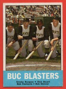 1963 Topps #18 Buc Blasters EX-EXMINT+ Roberto Clemente Pittsburgh Pirates HOF