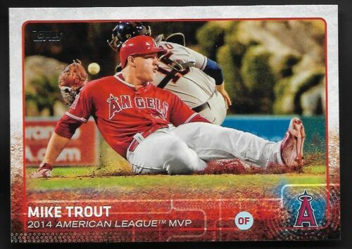 2015 Topps Baseball # 510 MIKE TROUT Los Angeles Angels 2014 AL MVP