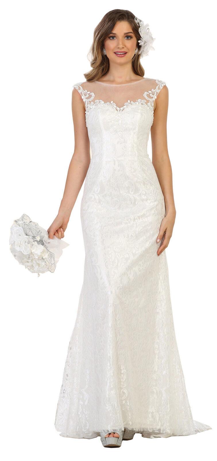 Ausverkauf  Braut Abend Kirche Kleid Lang Einfach Formelle Destination