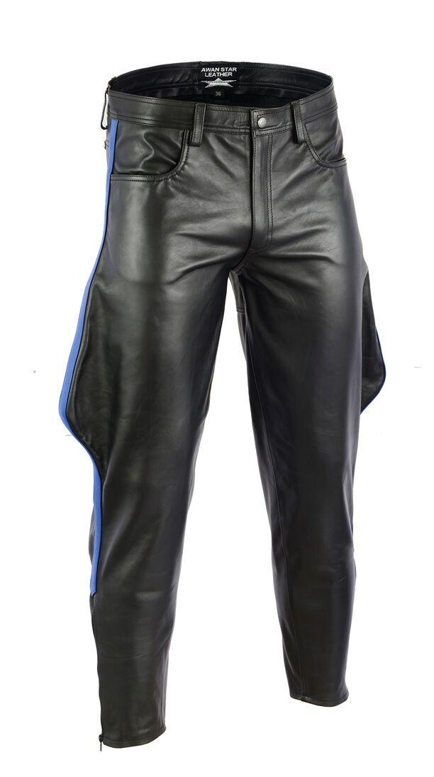 AW-7860 Lederbreeches Glattes lederhose Reiterhose Stiefelhose Jodhpur hose 34 W
