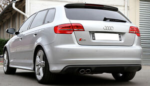 AUDI-A3-8P-SPORTBACK-S3-LOOK-REAR-BUMPER-SPOILER-SKIRT-VALANCE-DIFFUSER