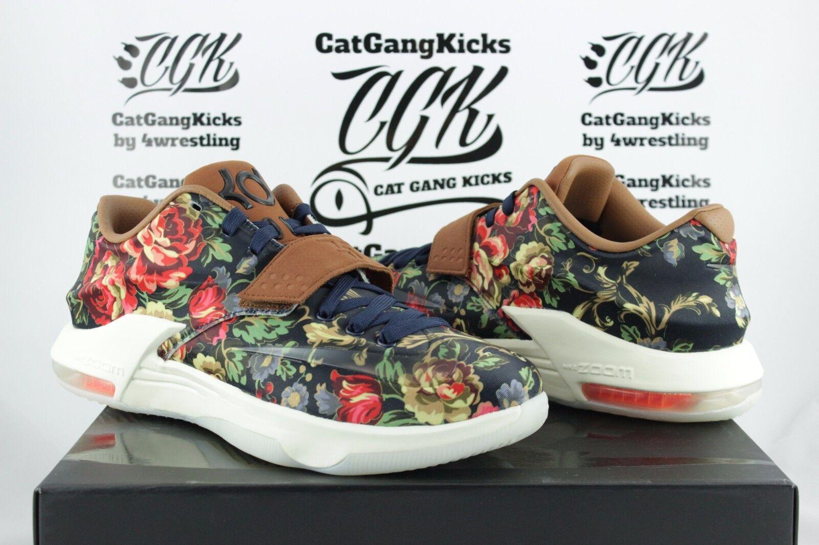 DS Nike KD VII 7 EXT Floral QS 726438-400 Sz 10 11 12 aunt pearl