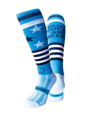 Blood Sweat and Beers Hockey Socks WackySox Rugby Socks