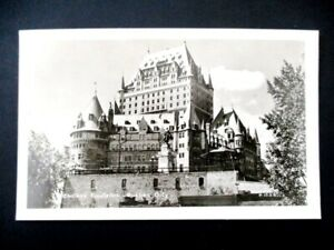 Chateau-Frontenac-Real-Photo-Postcard-Quebec-City-Canada-Unused