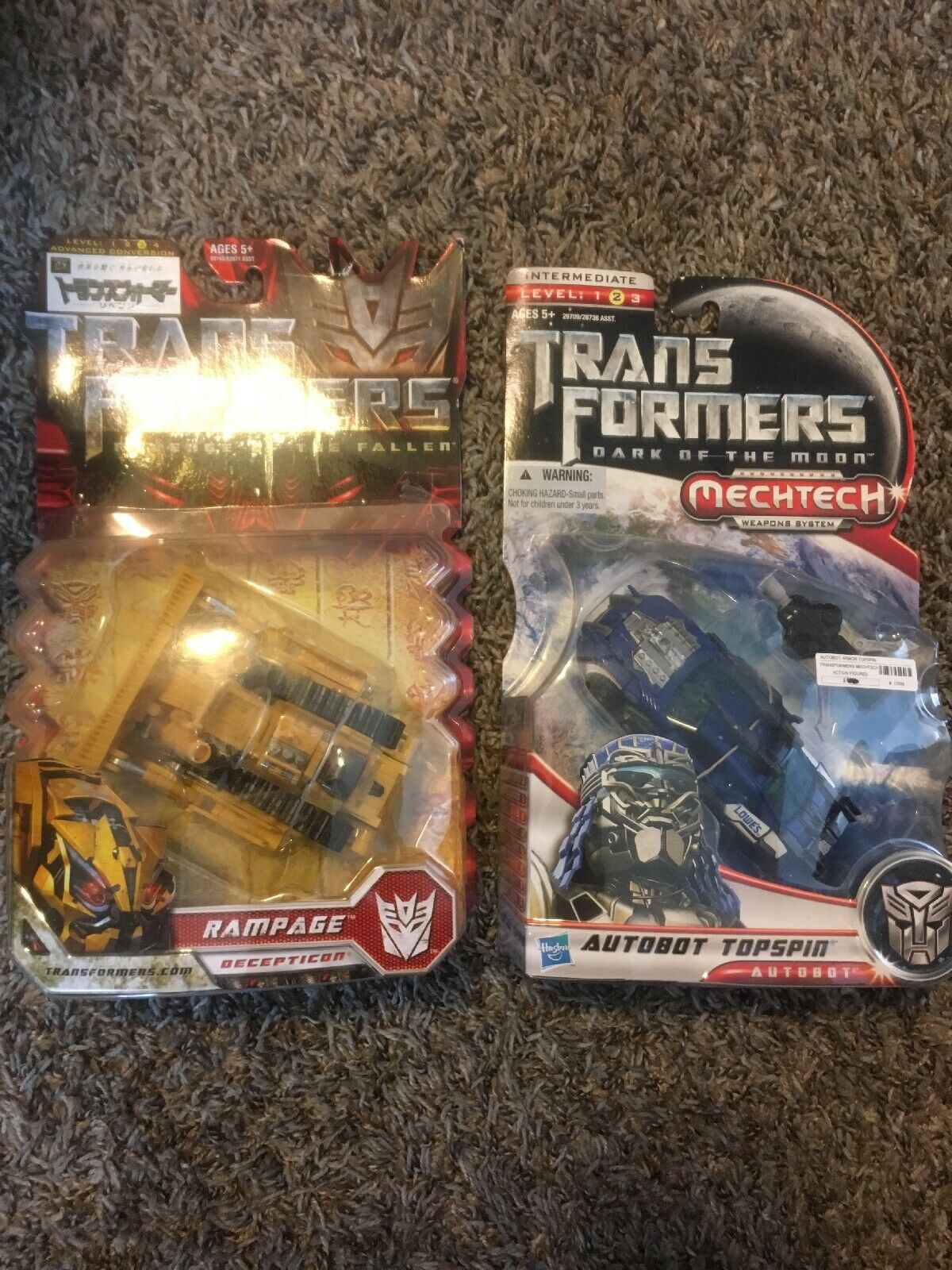 Transformers Takara redF Rampage And DOTM Autobot Topspin MISB Hasbro Deluxe Set