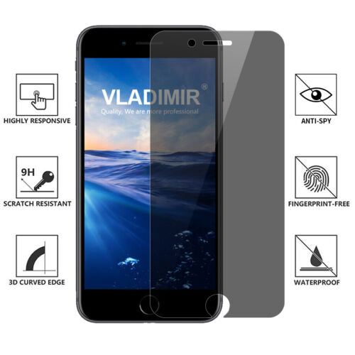 Anti Peeping Privacy 9H Tempered Glass Screen Protector For iPhone 6/7/8 Plus