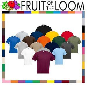 Fruit-of-the-Loom-Super-Premium-T-Shirt-Heavy-Cotton-Blank-Tee-Shirt-S-XXXL