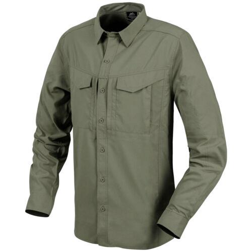 Helikon Defender Mk2 Long Sleeve Tropical Mens Shirt Tactical Travel Dark Olive