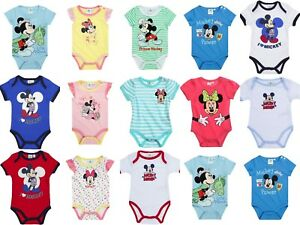 Disney-Baby-Newborn-Infant-Boys-Girls-Bodysuits-Jumpsuit-Rompers-0-24-months