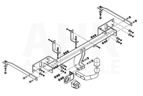 Für Fiat Panda III 5-Tür ab 12 Anhängerkupplung starr+E-Satz 13p spez ABE