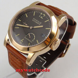 3bd2b186f Parnis coffee dial rose golden case Sapphire glass ST2530 Auto Mens ...