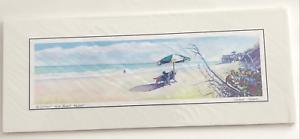 Disney Print Vero Beach Resort Watercolor 20 x 8 Vincent Totera on Matte WAS $26