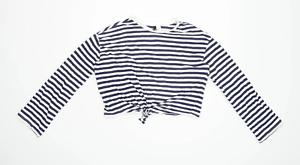 H-amp-M-Womens-Size-S-Striped-Cotton-Blend-Multi-Coloured-Long-Sleeve-T-Shirt-Regul