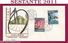 ITALIA FDC ROMA CAMPIONATI MONDIALI CICLISMO IMOLA 1968  ANNULLO BARI G135