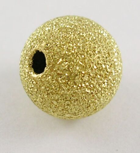 Gold Or Silver Colour Brass Stardust Beads 8mm or 10mm You Choose