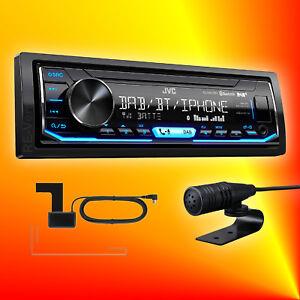 JVC-KD-X451-DBT-DAB-Autoradio-Antenne-Bluetooth-Freisprechfunktion-Vario-Color