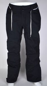 2017-USED-WOMENS-DAKINE-MERIDIAN-SNOWBOARD-PANTS-L-Black-FREE-Lace-Belt