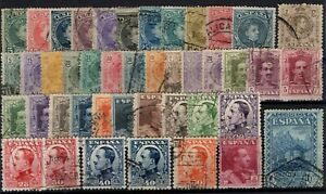 P130481-SPAIN-STAMPS-LOT-1901-1931-USED-CV-171