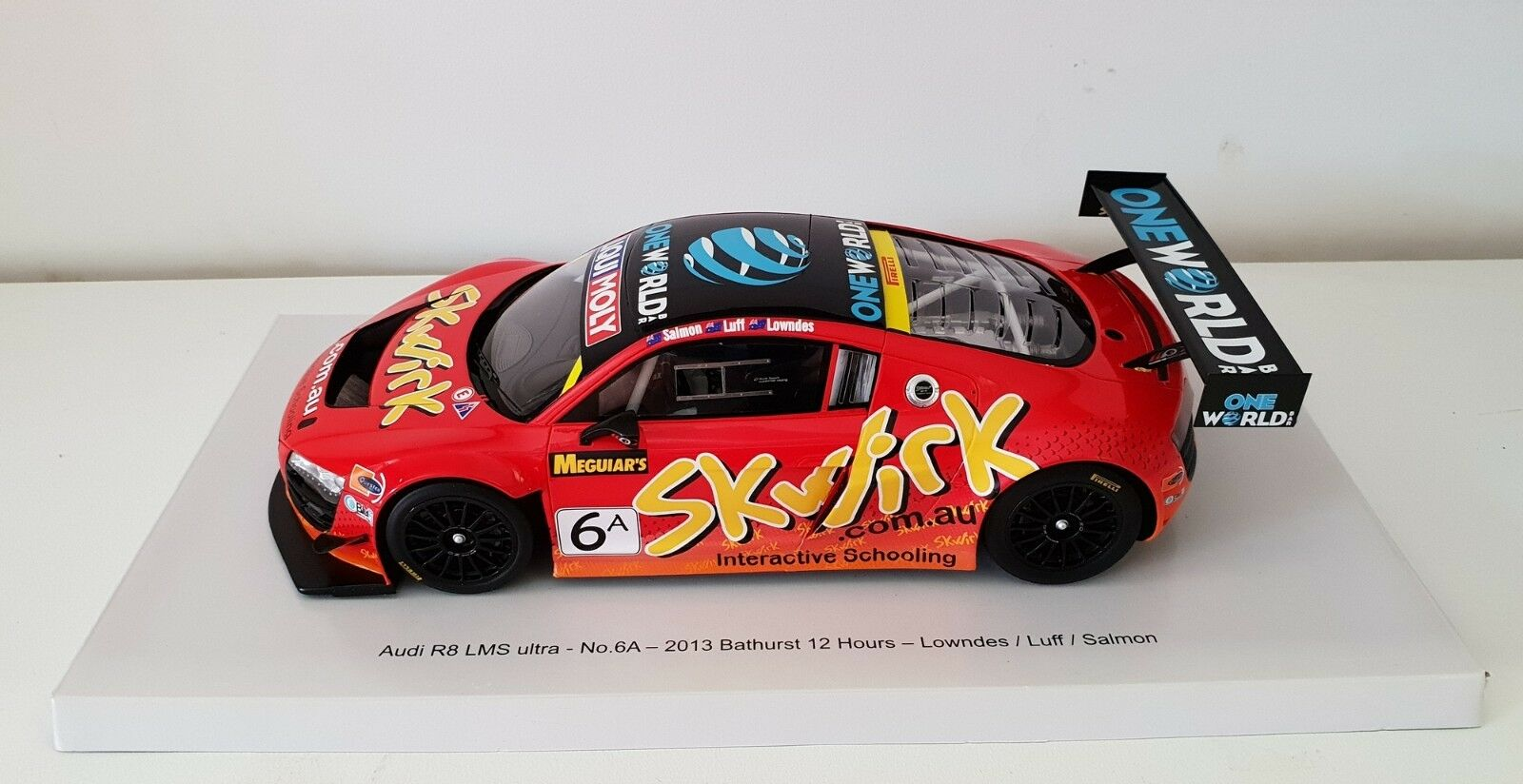 1 18 Scale Spark 2013 Bathurst 12 Hour Lowndes   Luff   Salmoni R8 LMS Ultra