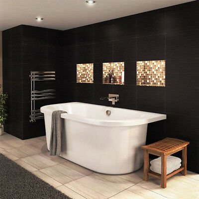 Freestanding Bath With Surround Modern Double Ended Bathroom Suite Bath Tub