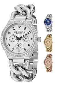 Stuhrling Women's 813S Fashion Dress Swarovski Crystal Stainless Luxury Watch