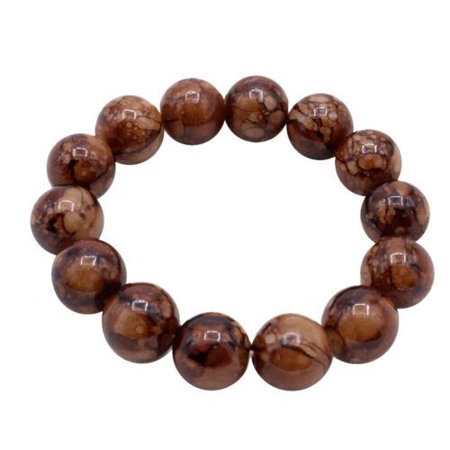 Men/'s Women Retro Stone Bracelet Wrist Tibetan Buddhist Beads Elastic Bangle