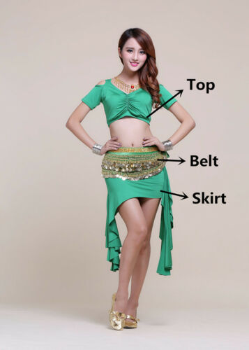 Belly Dance Costumes Belly Practice Wear Stage Performance Costume Women 6 Col